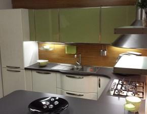 Cucina Lube Cucine Katia Laccato lucido e Vetro Top Unicolor, Completa Elettrodomestici Hotpoint Ariston
