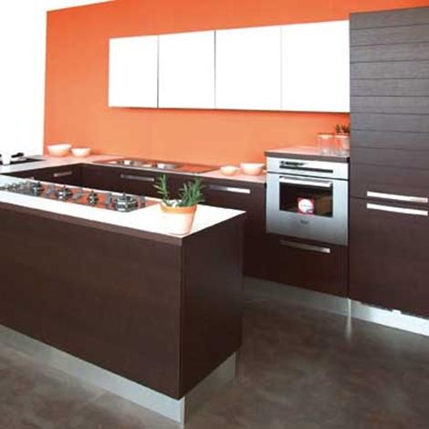 Disegno prezzi lube cucine : Cucina Lube Cucine Maura Moderna Legno rovere moro - Cucine a ...