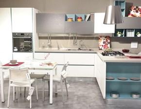 Cucina Lube cucine moderna ad angolo altri colori in laccato opaco Neck
