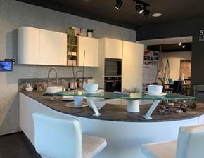Cucina Lube cucine moderna ad angolo bianca in laminato materico Clover