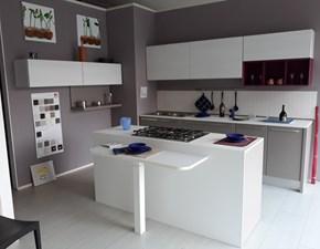 Cucina Lube cucine moderna ad isola grigio in laccato opaco Modello5