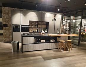 Cucina Lube cucine moderna ad isola grigio in laminato materico Immagina lux