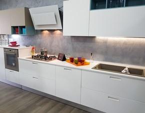 Cucina Lube cucine moderna lineare bianca in polimerico opaco Swing