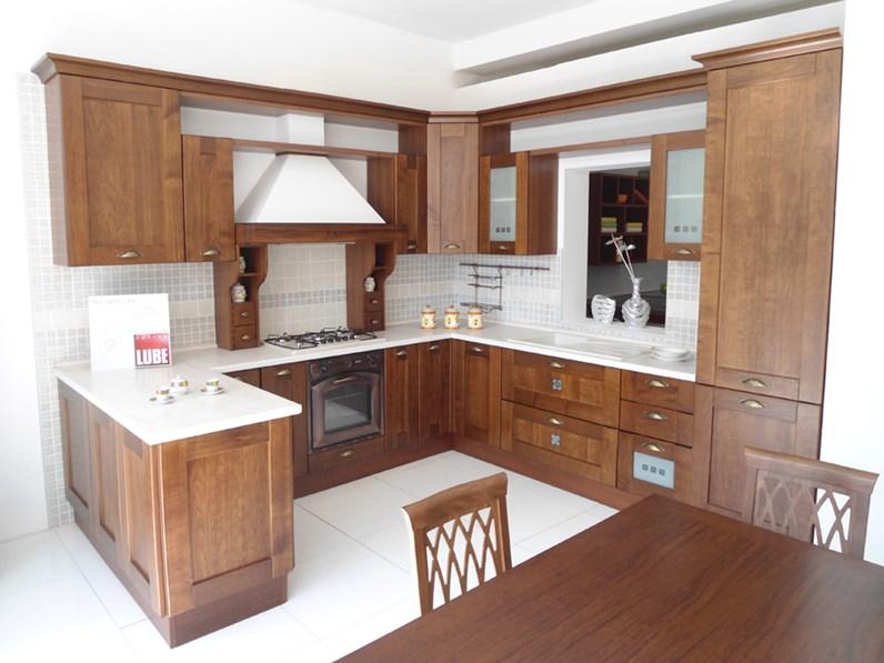 Cucina Lube Erica in legno scontato del -64 % - Cucine a prezzi ...