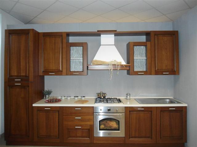 Cucina lube mod pavia cucine a prezzi scontati - Colore parete cucina noce ...