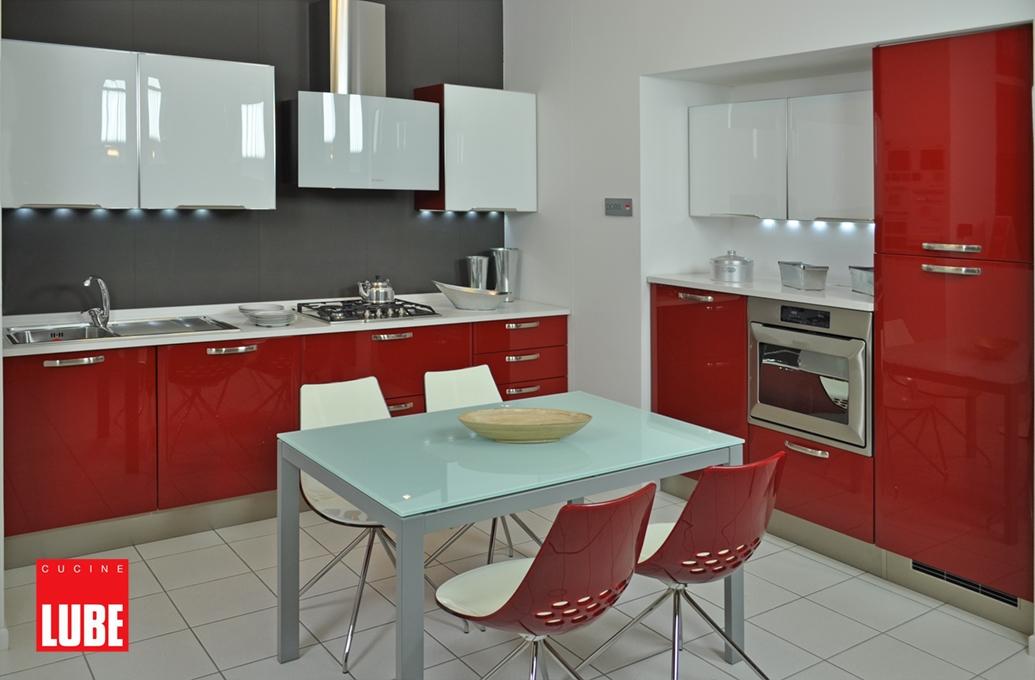 Cucina lube modello doris completa di elettrodomestici - Cucina bordeaux ...