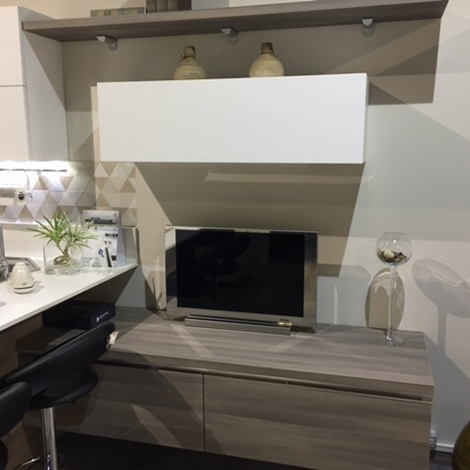 Cucina lube modello essenza polimerico pino kaki e bianco for Mobili baldazzi cucine