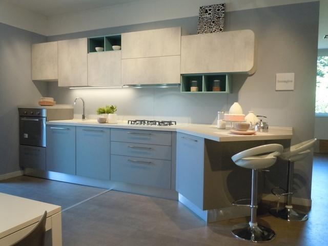 Cucina esposta lube modello immagina grigio agata e - Cucina lube prezzo ...