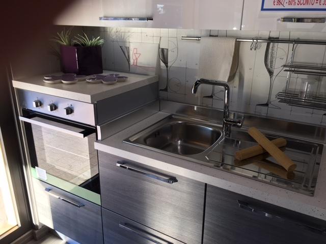 Cucina lube modello martina polimerico grigio argentato e for Mobili baldazzi cucine