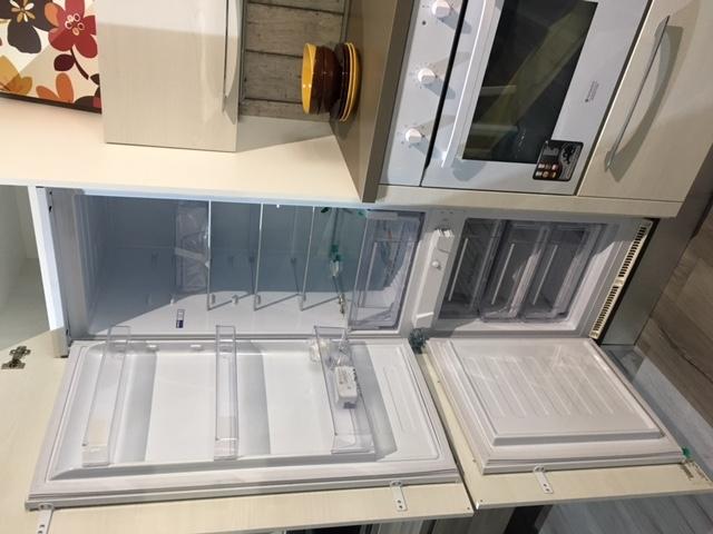 Cucina Lube modello Noemi in melaminico olmo bianco con penisola - Cucine a prezzi scontati