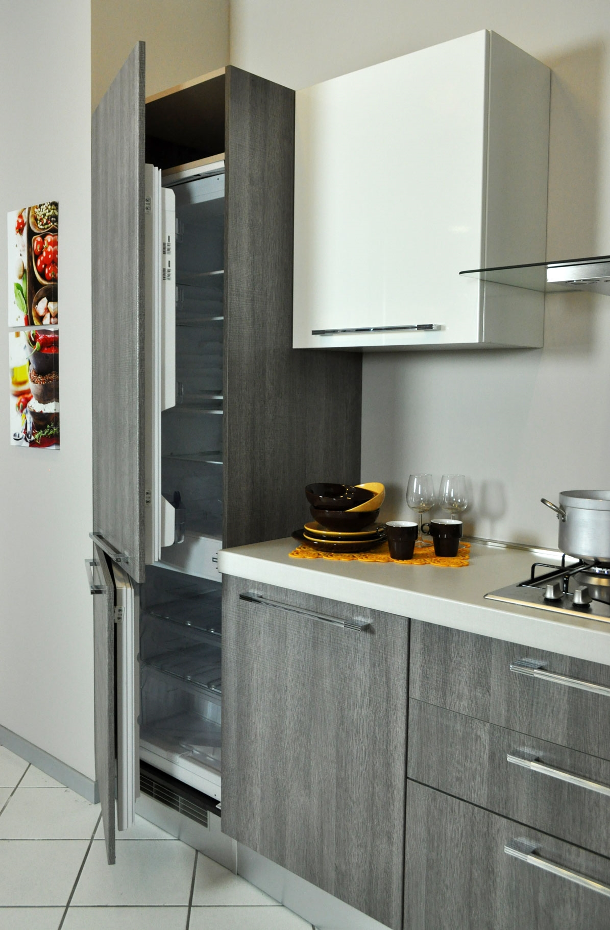 Cucina lube noemi angolare completa di elettrodomestici in - Elettrodomestici cucina ...
