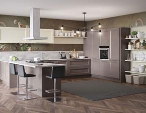 Cucina magnolia moderna ad angolo Divina Aerre cucine