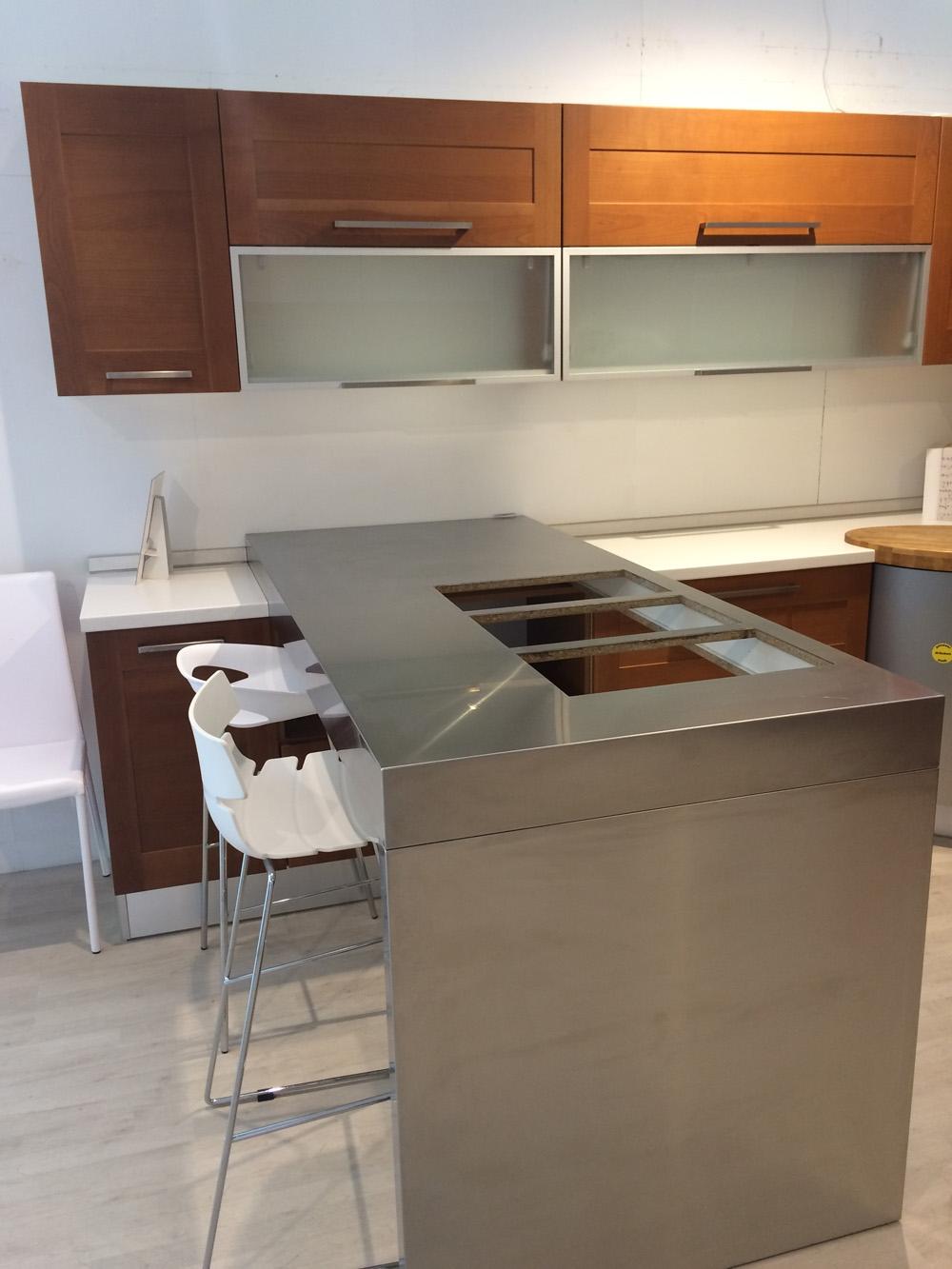 Cucina maior cucine clio moderna legno ciliegio cucine a prezzi scontati - Cucina senza elettrodomestici ...