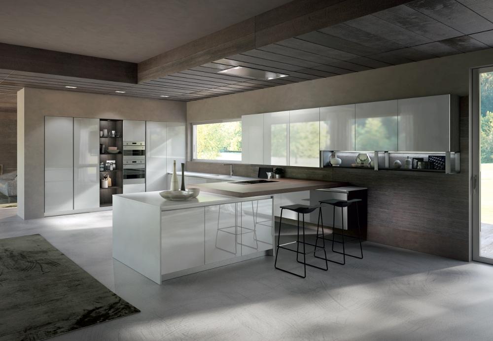 Cucina Maior Cucine Lux versione polimerico lucido Moderne Polimerico Lucido - Cucine a prezzi ...