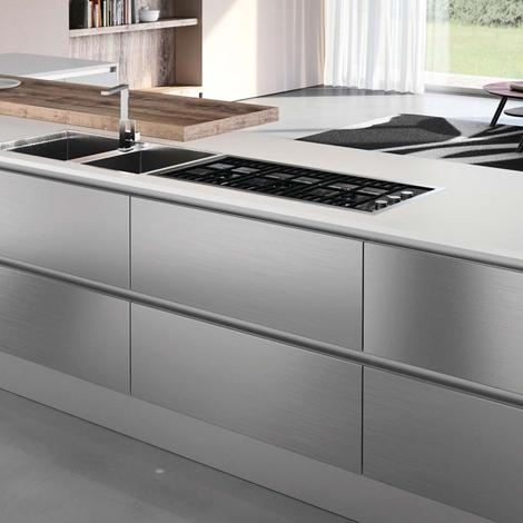 cucina maior cucine steel con frontali in acciaio inox scontato ... - Steel Cucine Prezzi