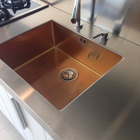 lavello integrato inox