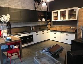 CUCINA Marchi cucine ad angolo Lab 40, bianco e legno vecchio SCONTATA