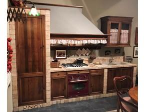 Cucina Marchi cucine country lineare noce in legno Doralice