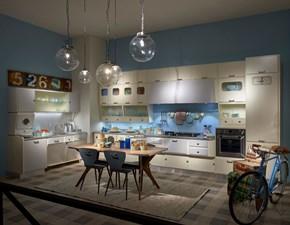 Cucina Marchi cucine design ad angolo azzurra in laccato opaco Saint louis