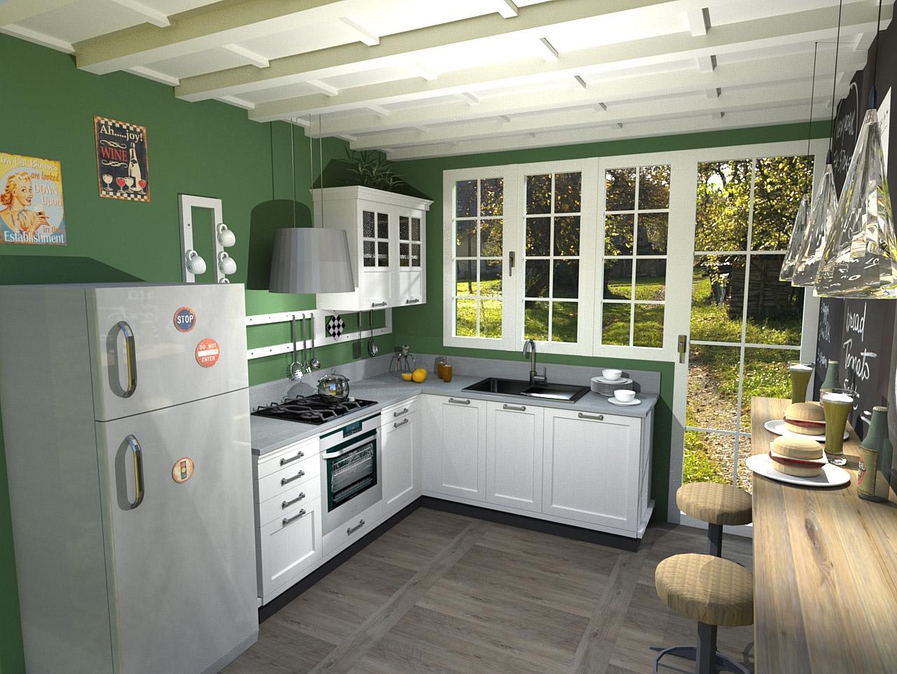 Cucina marchi kreola composizione 4 scontato del 51 - Marchi cucine outlet ...