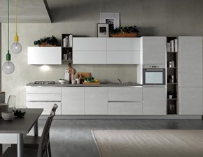 Cucina Marilin moderna bianca lineare Aran