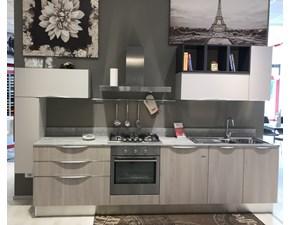 Cucina Marina chic moderna grigio lineare Febal