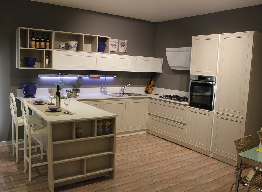 Outlet Cucine Piemonte. Cucina Outlet In Legno Ad Angolo With ...