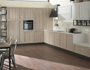 Cucina Melissa rovere sabbia e rovere ghiaccio moderna altri colori lineare Evo cucine