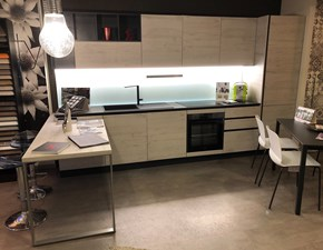 Cucina Mobilegno cucine design lineare rovere chiaro in laminato materico Mia