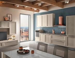 Cucina Mobilificio bellutti moderna lineare rovere chiaro in legno Modello gioia