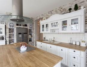 Cucina Mobilike irene country bianca con penisola Artigianale
