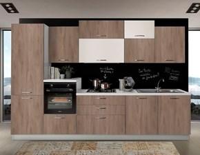 Cucina Mobilturi cucine design lineare noce in laminato materico New   smart