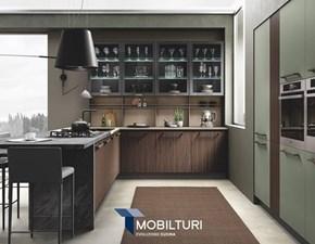 Cucina Mobilturi cucine moderna lineare bianca in polimerico opaco New  pop opaco e lucido