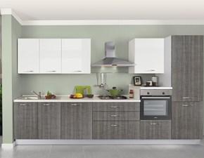 Cucina Mobilturi cucine moderna lineare grigio in laminato materico New smart