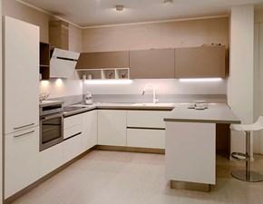 Cucina Mod cloe moderna bianca con penisola Arredo3