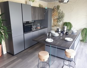 Cucina Mod. Lihma laccata matt di miton - super occasione design grigio ad isola Miton