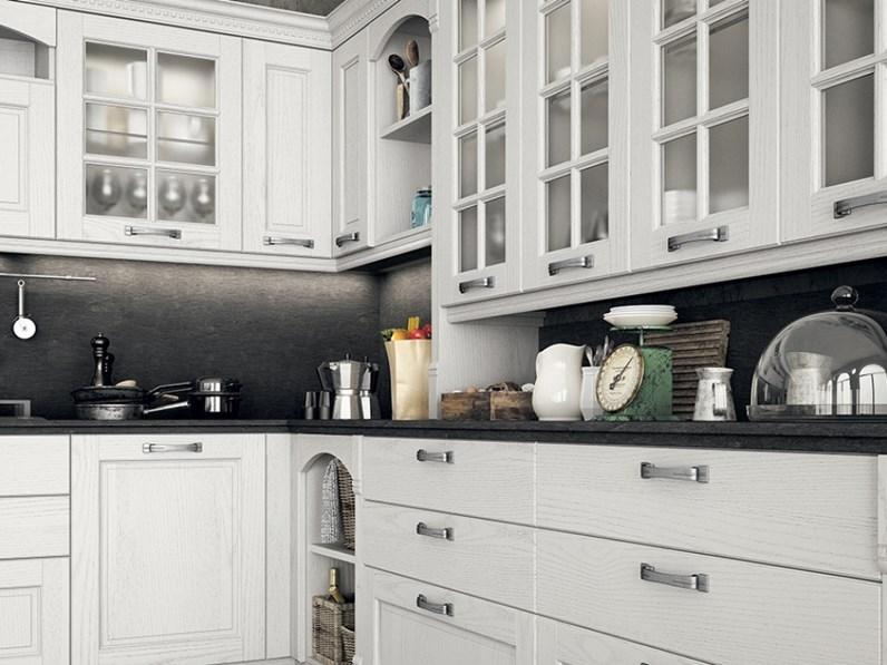 Cucina mod virginia in legno con piano in marmo finiture personalizzabili su misura - Piano cucina in legno ...