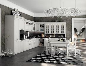 Cucina mod. Virginia in legno con piano in marmo finiture personalizzabili Su Misura