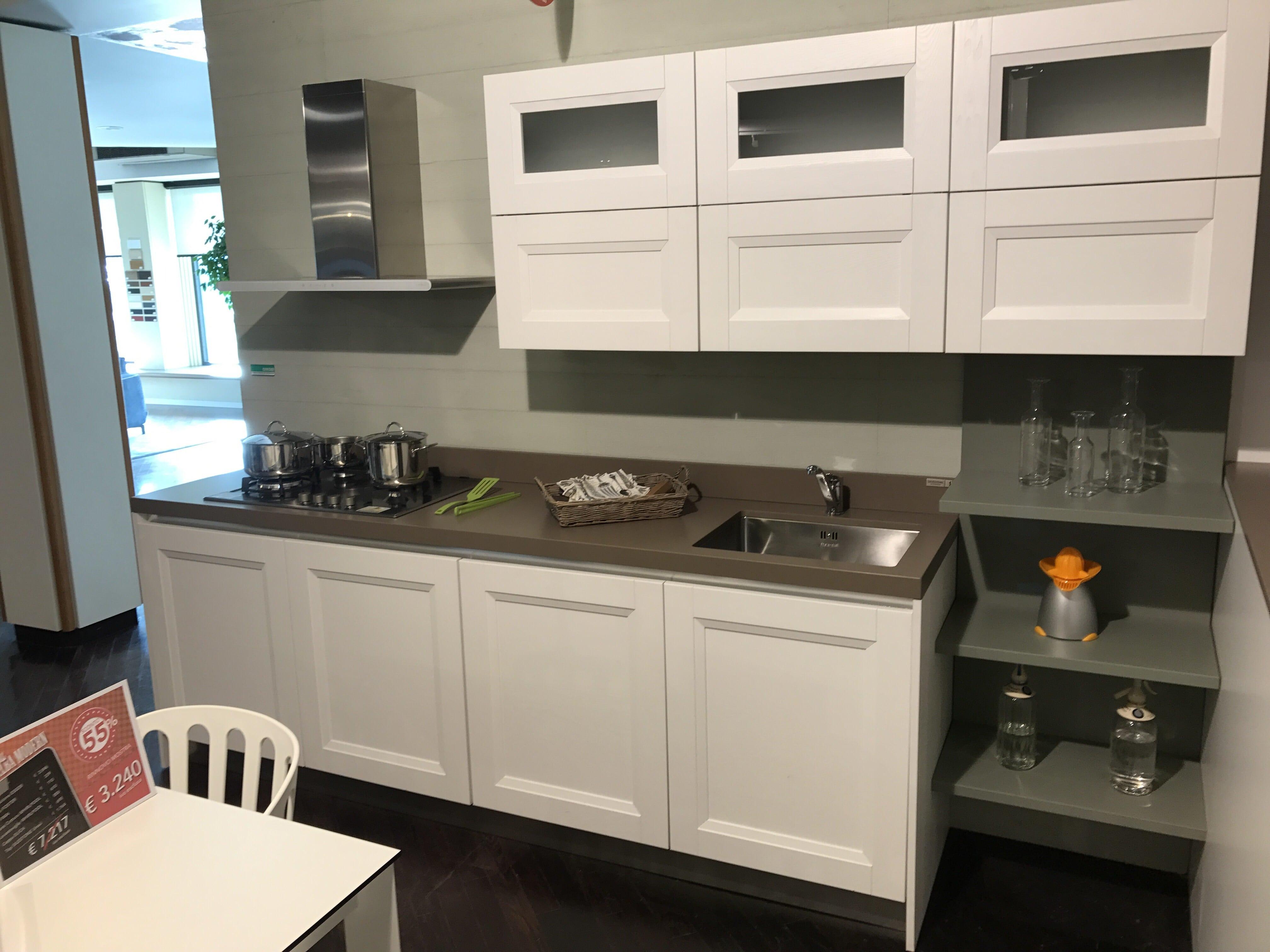 Cucina modello alba essebi cucine laccata bianca sconto 55 - Cucine essebi prezzi ...