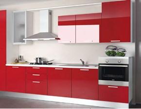 Cucina modello Alma di Creo Kitchens Laccato Lucido Rosso