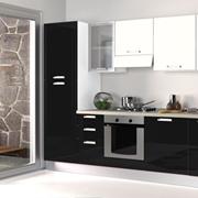 Cucina modello Alma di Creo Kitchens Laccato Lucido Antracite/Inox