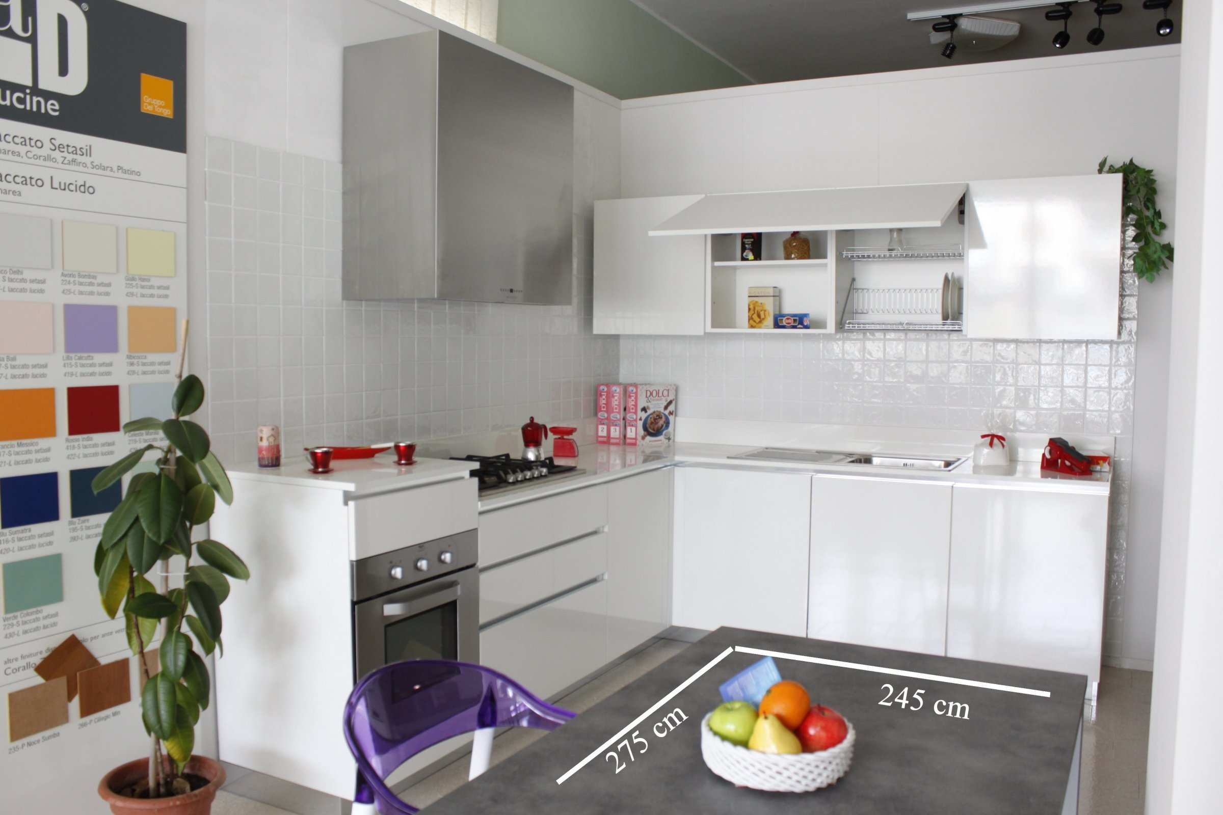 Cucina modello creta bianco astoria lucido marca del tongo ad cucine - Del tongo cucina ...