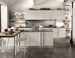 Cucina modello Cucina bianca  moderna con isola e piano pensola  shabby chic in offerta  Nuovi mondi cucine PREZZO SCONTATO