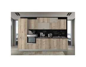 Cucina modello Cucina lineare 330 cm rovere nodato -tortora Artigianale PREZZO SCONTATO