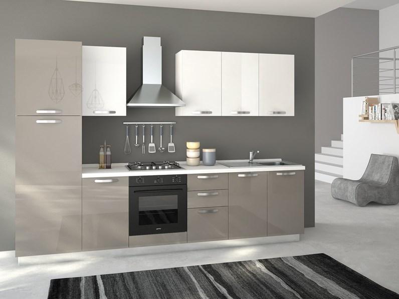Cucina modello Cucina syntesia 300 cm lucida Artigianale ...