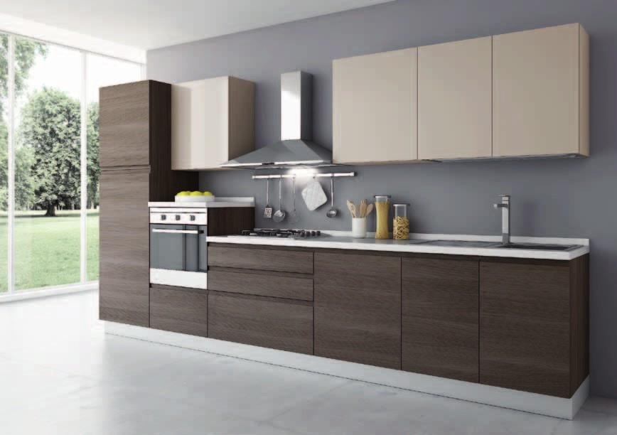Cucina modello flash con gola fresata in offerta cucine for Cucine bloccate offerte