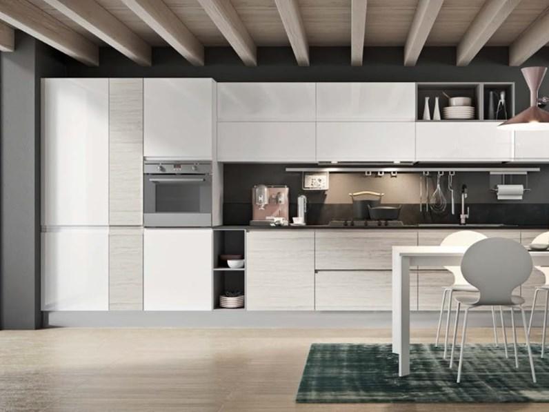 cucina modello gola moderna integrata vintage line in offerta ...