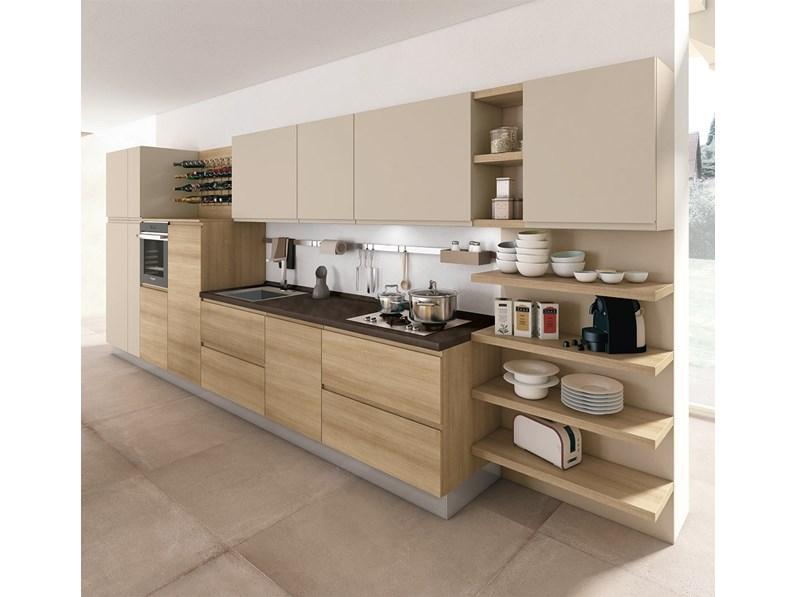 Cucine Moderne In Rovere Chiaro.Cucina Modello Jey By Creo Kitchens Moderna In Rovere Chiaro Lineare