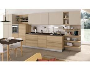 Cucina modello Jey by Creo Kitchens moderna in rovere chiaro lineare