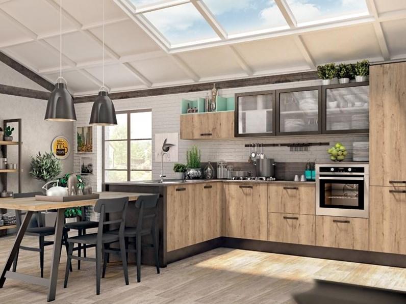 Cucina modello kyra neck di creo kitchens colore rovere - Cucina rovere bianco ...